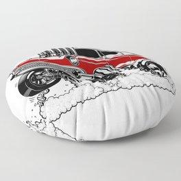 57 Gasser REV-3 RED Floor Pillow