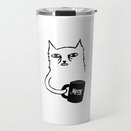 Tired Cat Travel Mug
