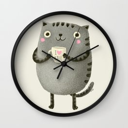 I♥kill (brown) Wall Clock