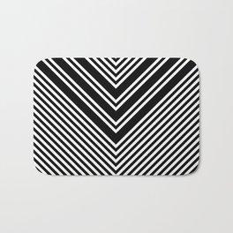 Back and White Lines Minimal Pattern No.1 Bath Mat