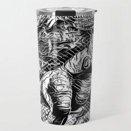 T-Rex Pen and Ink Travel Mug