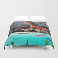 dinosaur Duvet Covers featuring Dinosaur by John Turck
