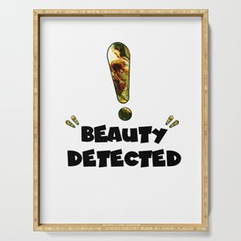 Beauty Detected Serving Tray