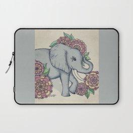 Little Elephant in soft vintage pastels Laptop Sleeve