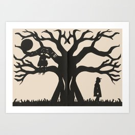 Hiding In The Branches Art Print