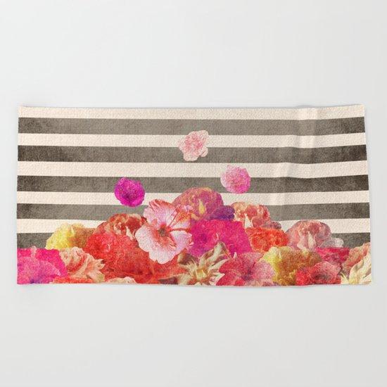 Vintage Floraline Beach Towel