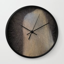 Girl with Pearl Lines Wall Clock