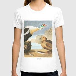 King duck, Birds of America, Audubon Plate 276 T-shirt