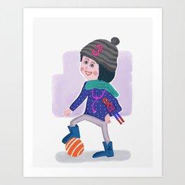 Birthday Girl 3 Art Print