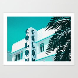 Colony Hotel Miami Beach Art Print