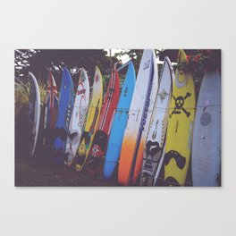 Surf-board-s up Canvas Print