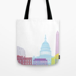 Washington DC skyline pop Tote Bag