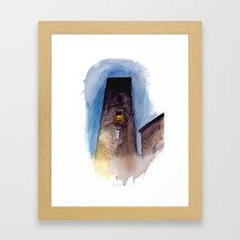Viterbo at Night Framed Art Print