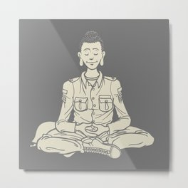 Peace. Everyone is Buddha! Metal Print