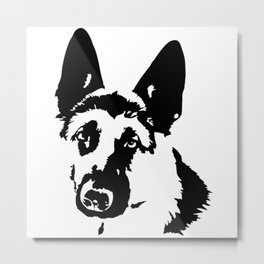 GIFTS FOR THE ALSATIAN AND GERMAN SHEPHERD DOG LOVER FOR YOU FROM MONOFACES Metal Print