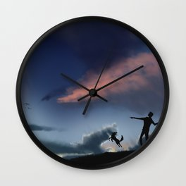 Fetch as the Sun Goes Down Wall Clock