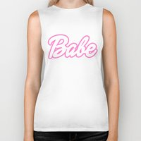 barbie Biker Tanks featuring Barbie Babe by Illustrations by Krishna Tabanera