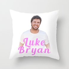 Luke Bryan Photo Throw Pillow