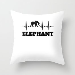 Elephant Gifts Throw Pillow