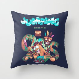 Jumping Since The 90s Throw Pillow