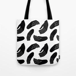 Hands Pattern Tote Bag