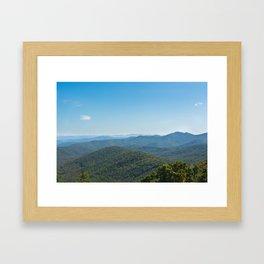 Blue Ridge Parkway - Big Ridge Framed Art Print