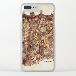 Book Of Kells Chi Rho Page Clear iPhone Case