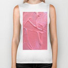 Pink Paint Texture Painting Biker Tank