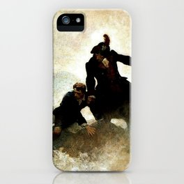 """Kidnapped"" Painting by NC Wyeth iPhone Case"