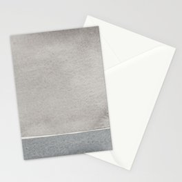 Grey watercolor Stationery Cards