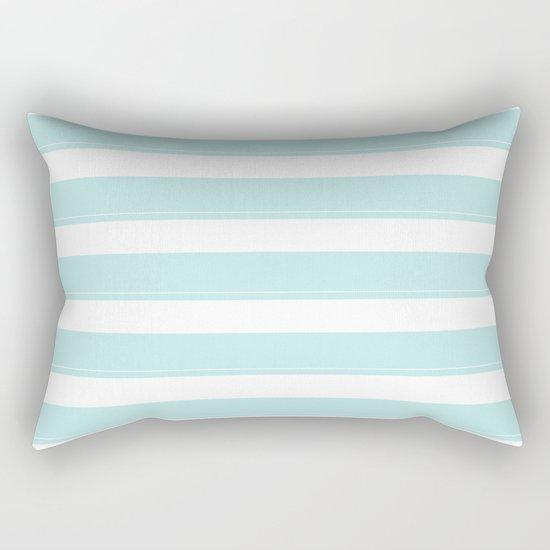 Striped 2 - turquoise stripes on white - #Society6 Rectangular Pillow