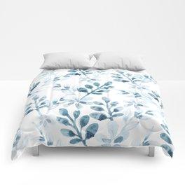 Watercolor Floral Pattern (Winter Version) Comforters