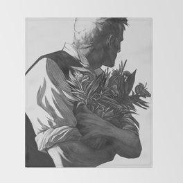 Flower Guy Throw Blanket