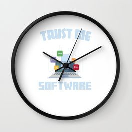 Funny Trust Me I'm A Software Engineer Developer Wall Clock