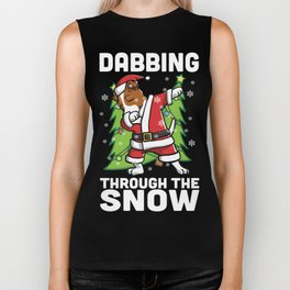 Jack Russell Terrier Dabbing Through The Snow Christmas Biker Tank