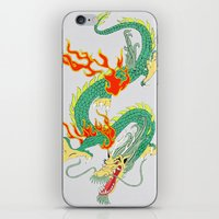 chinese iPhone & iPod Skins featuring Chinese Dragon by J&C Creations