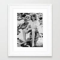 beth hoeckel Framed Art Prints featuring Beth by Sheila Murray