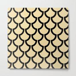 MODERN SCALES GEOMETRIC | beige black Metal Print