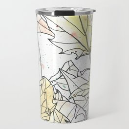 Autumn Leaves Watercolor Travel Mug
