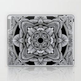 Black and white linework mandala Laptop & iPad Skin