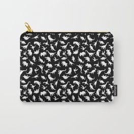 Fun Dinosaur Pattern (Black) Carry-All Pouch