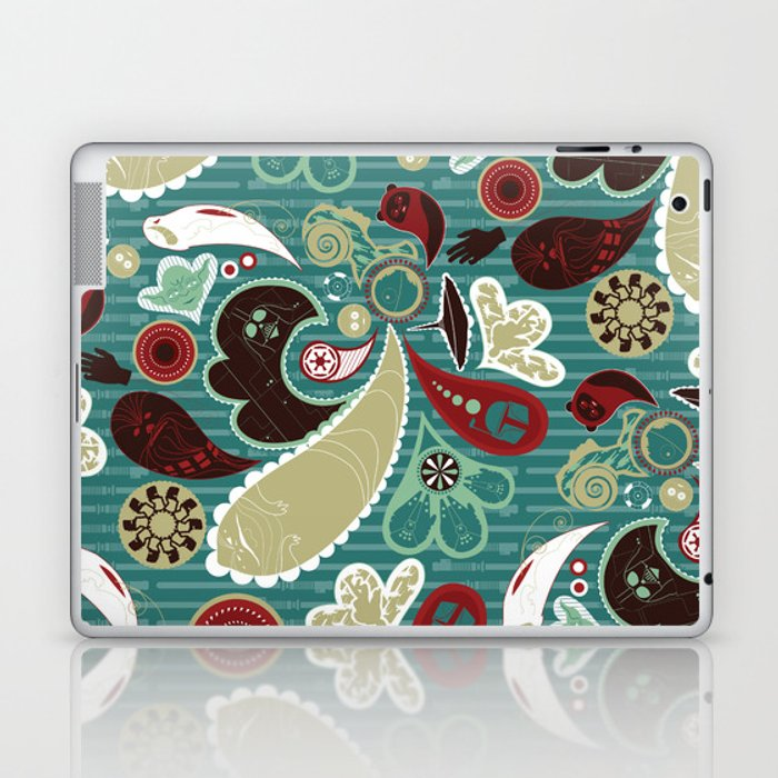 A Long Time Ago In A Paisley Far Far Away Laptop & iPad Skin