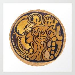 MAYAN JAGUAR COIN Art Print