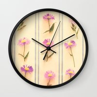 army Wall Clocks featuring Flower Army by Paula Belle Flores