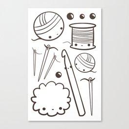 crochet cute - kawaii craft supplies Canvas Print