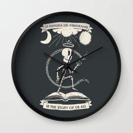 La Historia Del Inmigrante Wall Clock