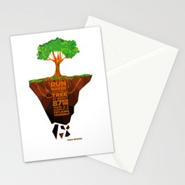 If you run naked around the tree Stationery Cards