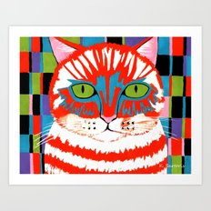 Bad Cattitude Art Print