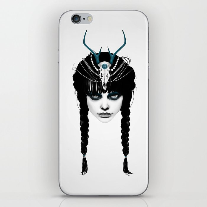 Wakeful Warrior - In Blue iPhone Skin
