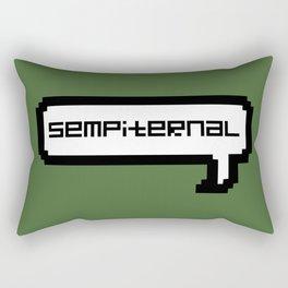 Sempiternal - Green Rectangular Pillow